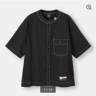 ミハラヤスヒロ(MIHARAYASUHIRO)のミハラヤスヒロ gu ベースボールシャツ XL ブラック 黒 black(Tシャツ/カットソー(半袖/袖なし))