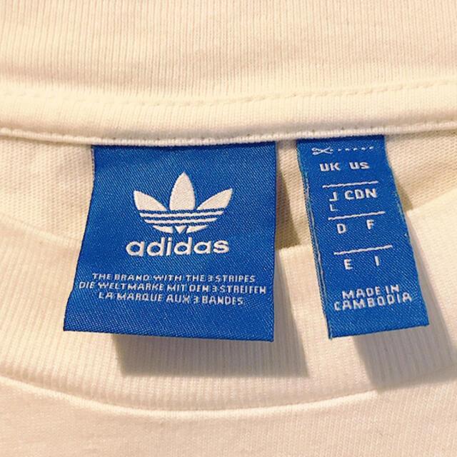 adidas(アディダス)のアディダス オリジナルス 白 ビッグロゴ タンクトップ Tシャツ トップス  メンズのトップス(Tシャツ/カットソー(半袖/袖なし))の商品写真