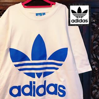 adidas - アディダス オリジナルス 白 ビッグロゴ タンクトップ Tシャツ トップス