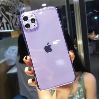 【アメリカ・LAで話題】 iPhone11pro クリアケース パープル