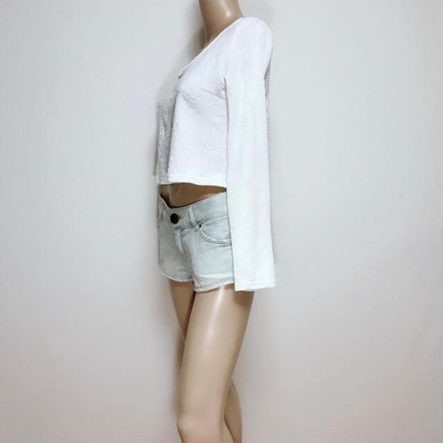 LIP SERVICE(リップサービス)のもて服♪リップサービス ダマスク エンボスプルオーバー♡リゼクシー デュラス レディースのトップス(Tシャツ(長袖/七分))の商品写真