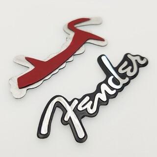フェンダー(Fender)のフェンダー エンブレム ロゴ 金属製プレート 2枚(スピーカー)
