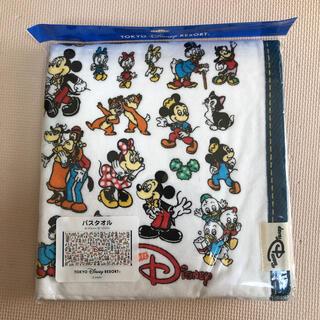 ディズニー(Disney)のチームディズニー バスタオル 総柄(タオル/バス用品)