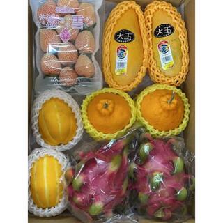 果物詰め合わせ  淡雪いちご 韓国産メロン ドラゴンフルーツ マンゴー🥭……(フルーツ)