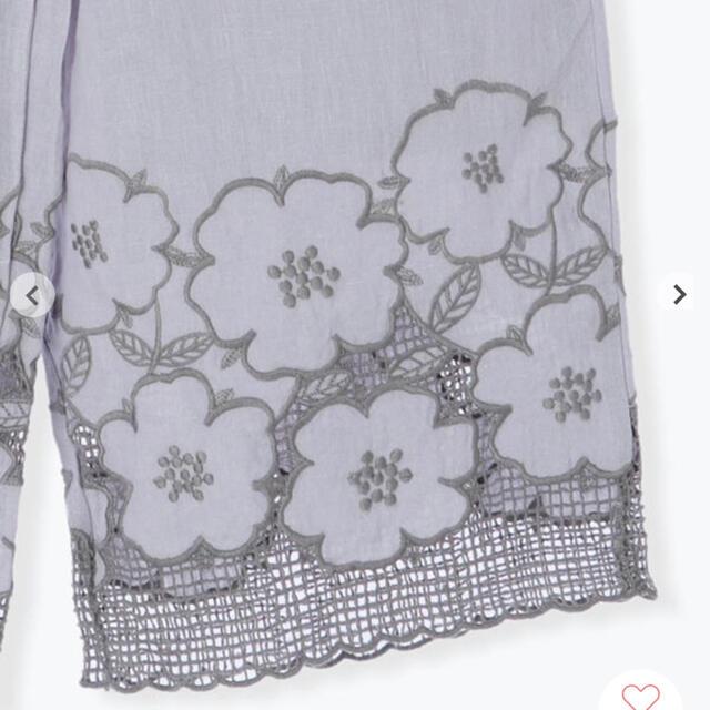 TSUHARU by Samansa Mos2 花柄メッシュ刺繍パンツ レディースのパンツ(カジュアルパンツ)の商品写真