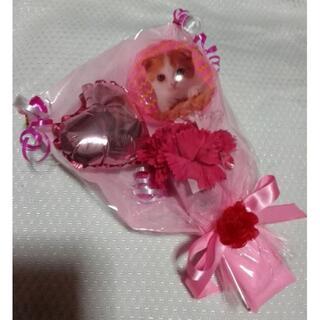 猫ちゃんプチバルーンブーケ ピンク☆カーネーションブーケ ネコ(その他)