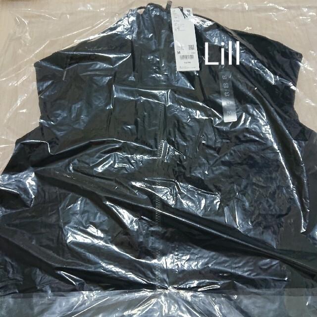 UNIQLO(ユニクロ)のユニクロ ジルサンダー ドライスウェットフルジップパーカー ブラック M 新品 レディースのトップス(パーカー)の商品写真