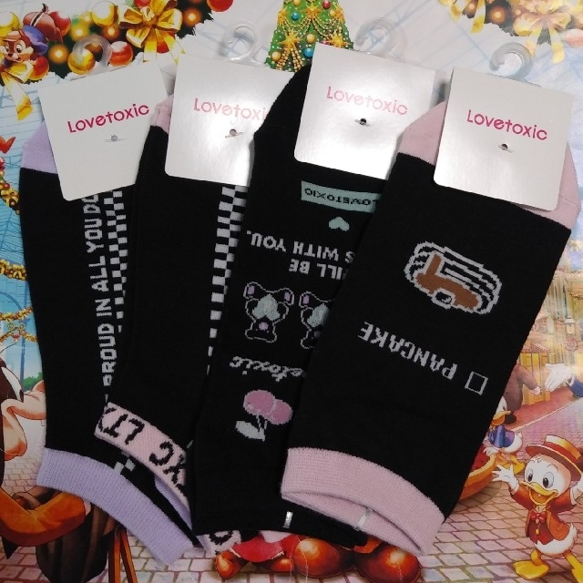 lovetoxic(ラブトキシック)のラブトキシック ソックス 4P キッズ/ベビー/マタニティのこども用ファッション小物(靴下/タイツ)の商品写真