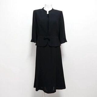 ★ブラックフォーマル・アンサンブル風ロングワンピ・・11号(礼服/喪服)