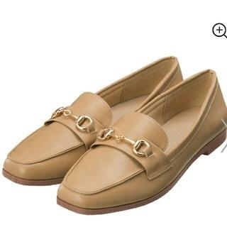 ジーユー(GU)の新品 GU ビットローファー L ベージュ(ローファー/革靴)