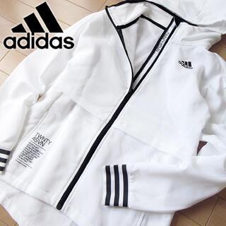 adidas - adidas S〜M アディダス レディース パーカージャケット/ジャージ 白