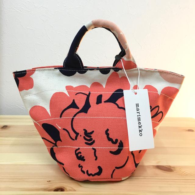 marimekko(マリメッコ)の【新品】マリメッコ  PIKKU ROIMA ピオニコーラル ミニトート レディースのバッグ(トートバッグ)の商品写真