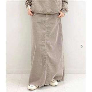ドゥーズィエムクラス(DEUXIEME CLASSE)のSURT サート コーデュロイ マキシ スカート 36(ロングスカート)