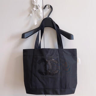 トートバッグ ノベルティ 黒×黒ロゴ