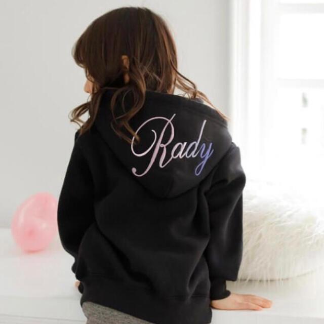 Rady(レディー)のRady フーディー ちびセットアップ パーカー レギンス フーディ  ロゴ キッズ/ベビー/マタニティのキッズ服女の子用(90cm~)(その他)の商品写真