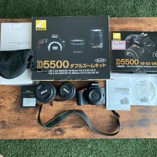 Nikon - 【Nikon D5500 ダブルズームキット BLACK】