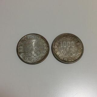 013 東京五輪(1964年)千円記念銀貨 2枚セット(スポーツ)