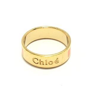 クロエ(Chloe)のクロエ - 金属素材 ゴールド×ピンク(リング(指輪))