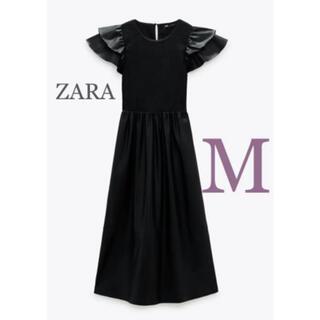 ZARA - 【新品・未使用】ZARA レザー風 ワンピース  M