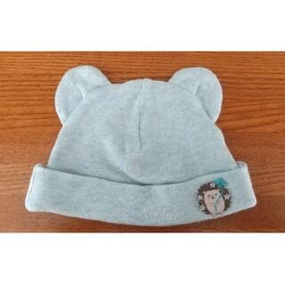コンビミニ(Combi mini)のコンビネミニ ベビー帽子 水色 綿 ハリネズミ 35-43cm (帽子)