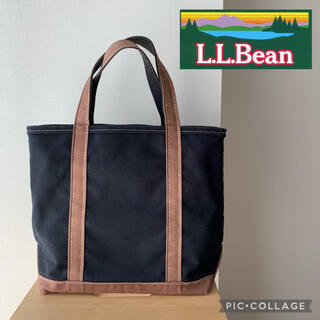 L.L.Bean - L.L.Bean BOAT AND TOTE 濃紺×ブラウン トートバッグ