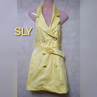 SLY - SLY ノースリーブ トレンチコート ワンピース