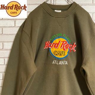 90s 古着 ハードロックカフェ USA製 アースカラー 刺繍 ゆるだぼ