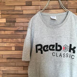 リーボック(Reebok)の美品!Reebok Tシャツ ビッグロゴ グレー Sサイズ(Tシャツ/カットソー(半袖/袖なし))