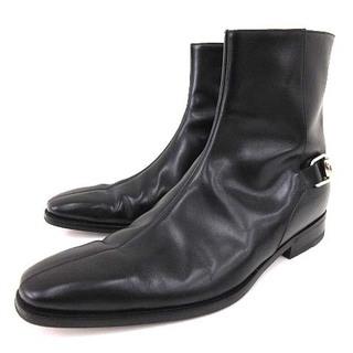 グッチ(Gucci)のグッチ ホースビット ブーツ レザー 39.5 約24.5~25cm 黒(ブーツ)