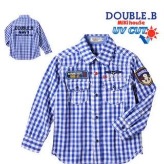 ダブルビー(DOUBLE.B)の★ダブルB150★長袖チェックシャツ★UVCUT★ミキハウス★新品★(ブラウス)