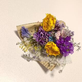 ドライフラワー バラのパープルスワッグ 53 ブーケ 花束 インテリア(ドライフラワー)