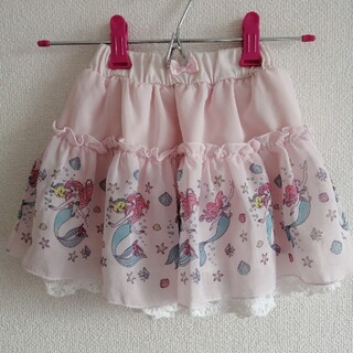 ディズニー(Disney)のBirthday MAJOLICA  ディズニープリンセスコラボスカート アリエ(スカート)