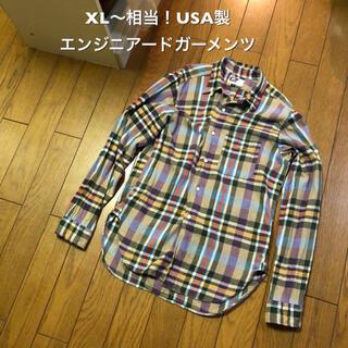 エンジニアードガーメンツ(Engineered Garments)のXL〜相当!USA製 エンジニアードガーメンツ 古着長袖チェックシャツ (シャツ)