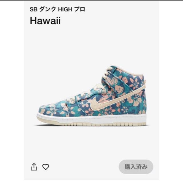 "NIKE(ナイキ)のNIKE SB DUNK HIGH ""HAWAII""  メンズの靴/シューズ(スニーカー)の商品写真"