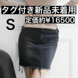 リゼクシー(RESEXXY)のSALE送料込み☆タグ付き新品未使用☆RESEXXY ブラックデニムスカート(ミニスカート)