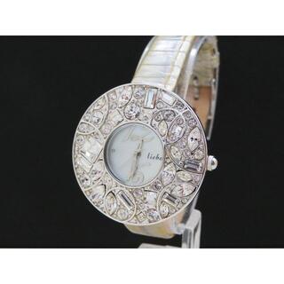 アビステ(ABISTE)のABISTE liebe ジュエリーウォッチ 素敵なシェル文字盤 キラキラベゼル(腕時計)
