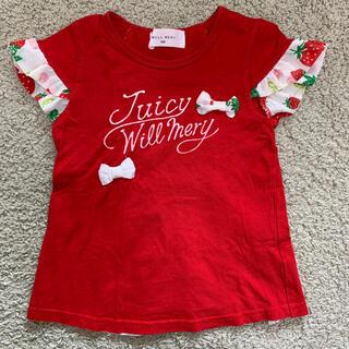 ウィルメリー(WILL MERY)のトップス イチゴ柄 100サイズ(Tシャツ/カットソー)