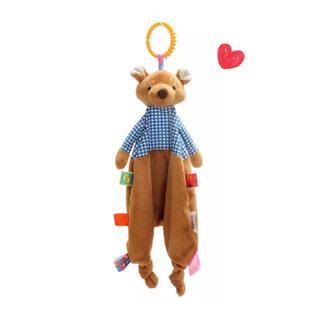 ベビートイ♡ くま ☆ おもちゃ ガラガラ にぎにぎ ラトル 歯固め タオル(がらがら/ラトル)