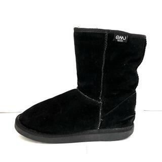 エミュー(EMU)のEMU(エミュ) 23 レディース - 黒(ブーツ)