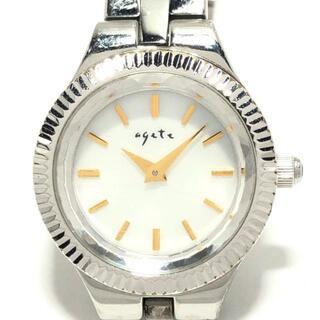 アガット(agete)のアガット レディース シェル文字盤 白(腕時計)