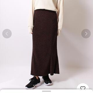 ユナイテッドアローズ(UNITED ARROWS)のヒョウ柄 フレアスカート 新品未使用 36(ロングスカート)