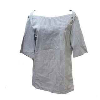 ジルサンダー(Jil Sander)のジルサンダー JIL SANDER 半袖 シャツ プルオーバー 紺 白 36 S(シャツ/ブラウス(半袖/袖なし))