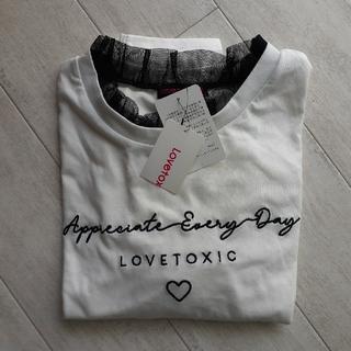 ナルミヤ インターナショナル(NARUMIYA INTERNATIONAL)のナルミヤ Love toxic 長袖Tシャツ 150cm(ワンピース)