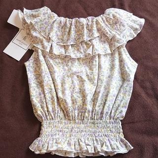 プティマイン(petit main)のロペピクニック KIDS 花柄トップス 100(Tシャツ/カットソー)