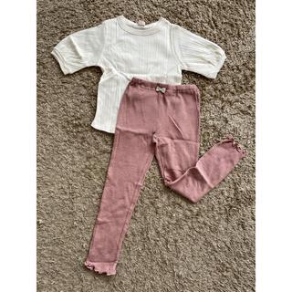 petit main - プティマイン、サイズ120、Tシャツ&レギンスセット