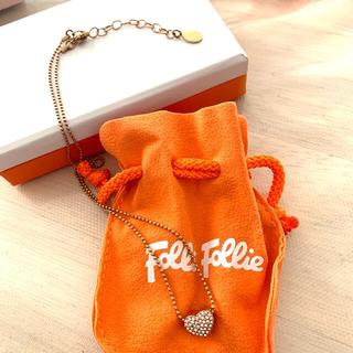 フォリフォリ(Folli Follie)のFolliFollie ハート ネックレス 付属の袋&箱付き(ネックレス)