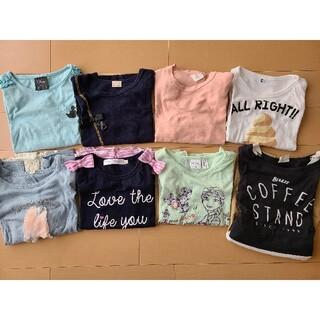 110cm女の子長袖Tシャツ7点長袖ワンピース1点まとめ売り
