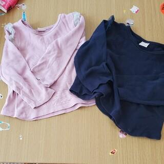 プティマイン(petit main)のプティマイン♡肩フリルロンT(Tシャツ/カットソー)