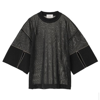 STUDIOUS - CLANE/クラネ SEE-THROUGH LINE KNIT TOPS