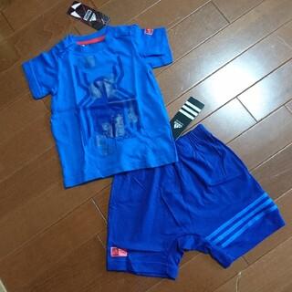アディダス(adidas)の【新品】スパイダーマン ベビー Tシャツ パンツ 上下セット 80 adidas(Tシャツ)
